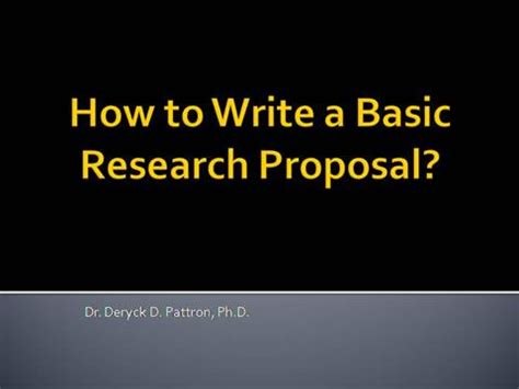 Thesis Proposal Template - Get Free Sample